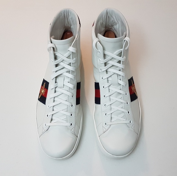 Bee Ace Hightop Sneakers Gucci
